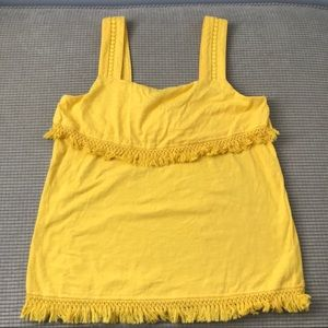 Jcrew yellow hula tank top